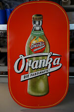 vintage 1950's Blechschild - Oranka Limonade - Großformat ! 74 x 42,5cm