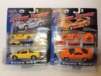 Maisto Excess Tuners Fast-Tune System Acura NSX Yellow 1/48 & Orange Toyota Sup.