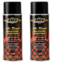 DEI Exhaust Wrap Header Downpipe Silicone Coating Black High Temp Spray (2 Pack)