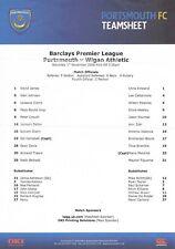 Teamsheet-Wigan Athletic 2008/9 Portsmouth V