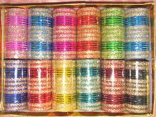 576 Bollywood Indian Belly Dance Metal Bangles Bracelet 12 Set Mix Clr Size 2.12