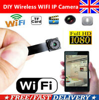 Wireless Mini Video Hidden HD 1080P Camera Module WiFi IP DIY Spy Micro DVR UK