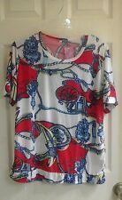 ACE Fashion blouse, western design,  women's size large,  short sleeve,  thin