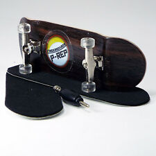 P-REP - 30mm Basic Complete Wooden Fingerboard Kit with Liquid Hardware - Ebony