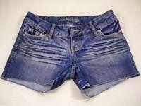 American Eagle Shorts Cutoffs Stretch Women's Size 4 Blue Denim
