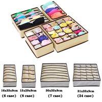 Foldable Storage Box Bra Underwear Tie Closet Organizer Drawer Divider Container