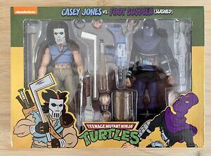 Neca TMNT Casey Jones & Slashed Foot Soldier Teenage Mutant Ninja Turtles Figure