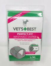NEW Washable Reusable Dog Diaper Vets Best Large L XL Female Heat Blue