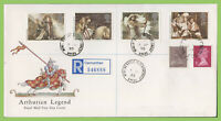 G.B. 1985 Arthurian Legend set on Royal Mail First Day Cover, Merlins Bridge cds