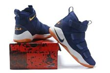 Nike LeBron Soldier XI 11 Midnight Navy Blue Gold Metallic 897644-402 Sz 12.5