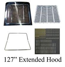 Peterbilt 379 Extended Hood Complete Grille Kit, Stainless Steel, Includes HUCKS
