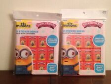 LOT of 2 MINIONS Sticker Treats 16 Sticker Boxes Each Party Favors Classroom +++
