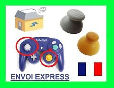 NINTENDO GAMECUBE controller analog joystick cap yellow and gray replacement