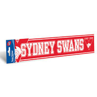 Sydney Swans AFL Bumper Sticker 305mm x 75mm Man Cave Car Bar School Books Gift