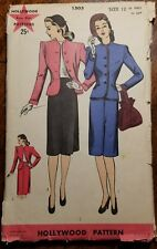 HOLLYWOOD FOUR STAR DRESS PATTERN 1503 SZ 12 UNCUT FACTORY FOLDED 1945