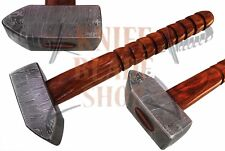 HANDMADE DAMASCUS Steel HAMMER CARVED ROSE WOOD HANDLE.