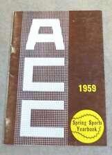 ACC ATLANTIC COAST CONFERENCE SPRING GUIDE - BASEBALL GOLF TRACK LACROSSE - 1959
