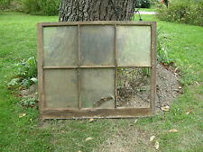 Vintage Farmhouse old wood window sash 6 pane picture frame 33 x 40 inches