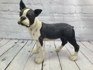 "Boston Terrier Life Like Standing Dog Statue 11"""