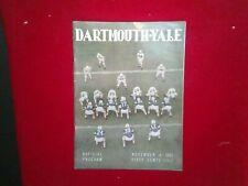 Nov 4 1961 Dartmouth vs Yale official Football Program