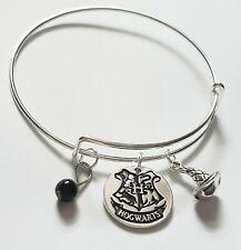 HOGWARTS Crest Harry Potter Gryffindor Slytherin Womans Bracelet Bangle Gift