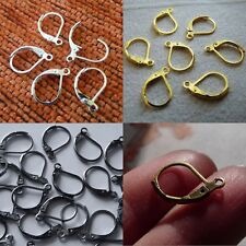 10pcs Leverback Earring Hooks Locking French Ear Wires Silver/Gold/Bronze/Black