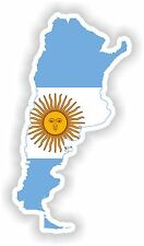 Sticker Silueta Argentina Mapa Bandera Para Parachoques Guitarra Patineta Locker Tablet