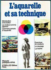 L'aquarelle et sa Technique, Paysage, Marine, AFHA, Couleurs, Dessins, Peintures