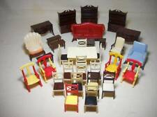 32 Assorted Pieces Vintage Renwal Plastic Doll House Furniture Made in USA