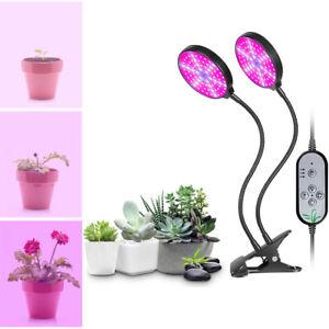 Flexible 2 Têtes Lampe de Croissance Plante Lampe Horticole Modes de Minuterie