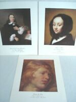 Dr. Alfred Bader Collection Lot of 3 Art Prints 11x14 in. Dutch Flemish Artists