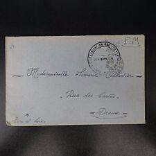 LETTRE EN FRANCHISE CAD LE BLANC 1945 CENTRE D'ORGANISATION DES TRANSMISSIONS