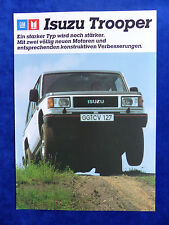 Isuzu Trooper - Verbesserungen - Prospekt Brochure 09.1987