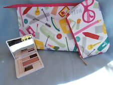 Clinique Eyeshadow + Blush Compact (Jammin Set) With Matching Makeup Bag Set