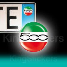 3 ADESIVI targa 500 FIAT tricolore stickers auto moto camper 02