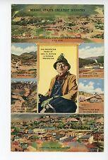 Mining—UTs Greatest Industry—Rare Linen GOLD PROSPECTOR Vintage—Eureka Park City