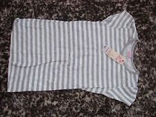 Cherokee BNWT 9-10 yrs grey/white stripe T-shirt