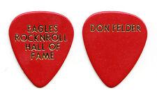 Eagles Don Felder Rock & Roll Hall of Fame Induction Red Guitar Pick - 1998