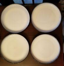 "Set of Four (4) Sango China - Concepts Eggplant Pattern #4942 Dinner Plates 11"""