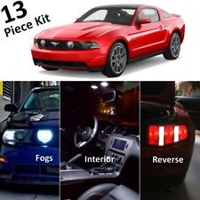 13x White LED Interior and Exterior Lights Package for 2010-2012 Ford Mustang GT
