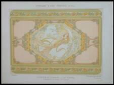 MULIER, LE REVEIL, ART NOUVEAU -1900- LITHOGRAPHIE, JASMIN DE VIRGINIE, FEMME