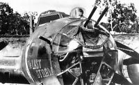 WWII Photo B-17 Bomber Nose Guns Expedient  WW2 World War Two USAAF / 5027