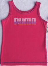 NWT PUMA Girls Fuchsia Tank Top with Logo(Size 4T) NEW