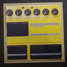 """Pop-kard feat. DOD distorsione a pedale, 6x6 """"greeting card AAI"""