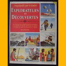 L'encyclopédie par le timbre EXPLORATEURS ET DÉCOUVERTES complet 1956