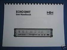 HH Electronic Tape ECHO UNIT User Handbook Rare