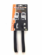 SUNLITE BICYCLE BIKE TOE CLIP STRAPS LEATHER BLACK NEW