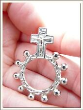 VINTAGE HOLY CROSS ROSARY RING !!! VISIT MY STORE !!!