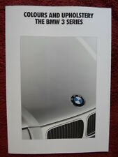 BMW 3 Series 1991 1992 UK Market Colours & Upholstery brochure - E36