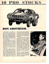 1971 CUDA PRO STOCK  -  DON GROTHEER   ~  GREAT DRAG RACE ARTICLE / AD